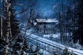 Sur la ligne Chamonix - Les Pratz de Chamonix