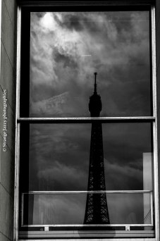 Eiffel Tower's reflection