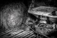 Dans la grange